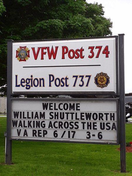 Portman making tracks on cross-country walk for vets