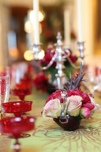 Simple can be stunning when setting a holiday table