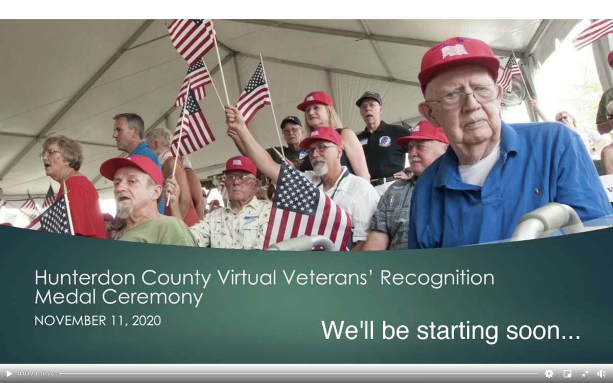 County officials honor veterans in virtual Veterans Day ceremony