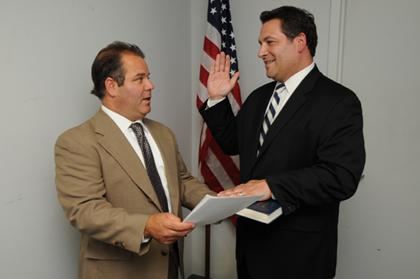 Tyrell takes oath as utilities commissioner in Fairfield