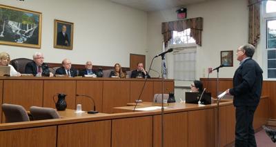 Cohen addresses the council