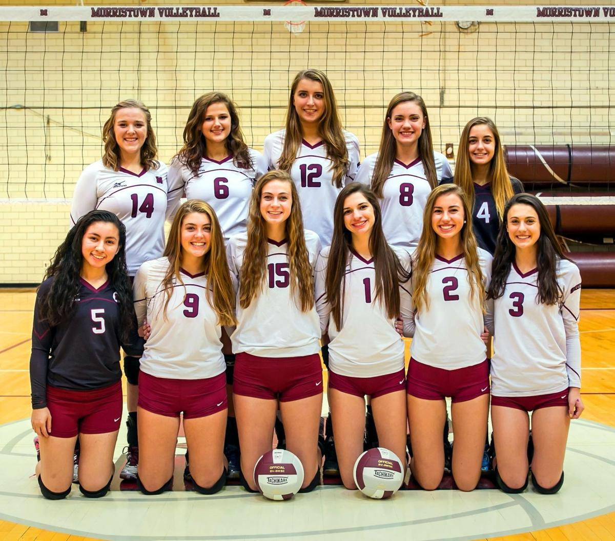 morristown volleyball team posted second straight division