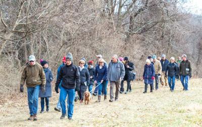 Tewksbury Land Trust holds winter hike atop Oldwick's Fox Hill
