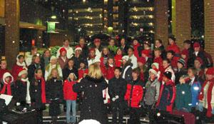 Round Valley School choir performs at Lights of Love