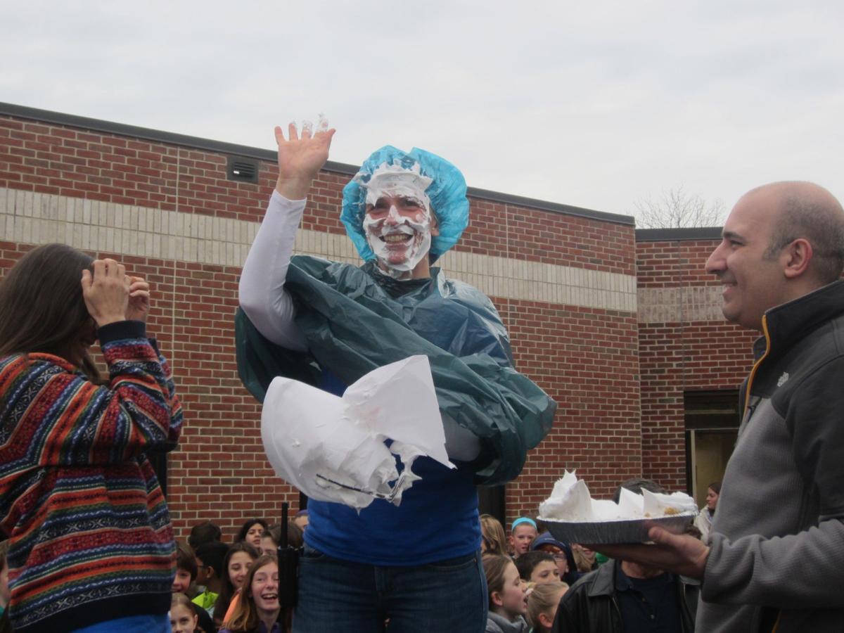 Principal gets pied
