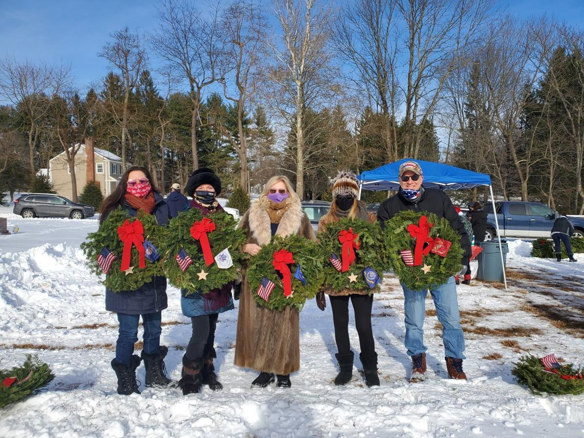 Oldwick Cub Scouts Pack 199 honor vets with Wreaths Across America