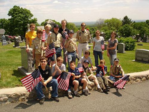 BOY SCOUTS SHOW THE WAY