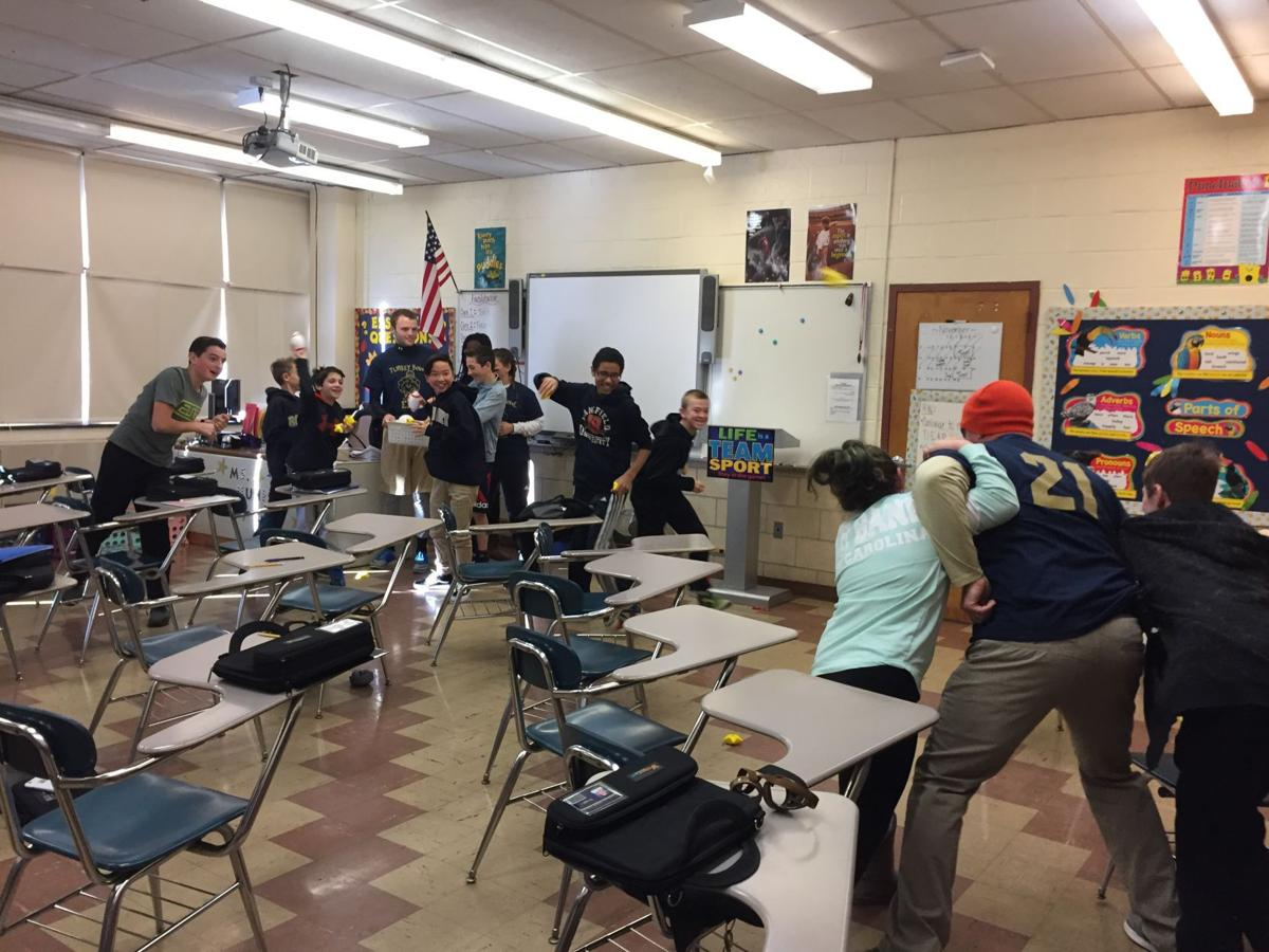 Roxbury Middle Schoolers Practice Classroom Intruder Drill