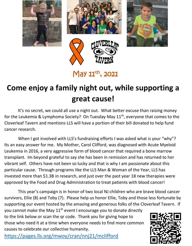 Support LLS at the Cloverleaf Tavern