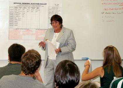 County Clerk speaks at North Hunterdon High School