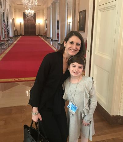 Grace Eline at the White House