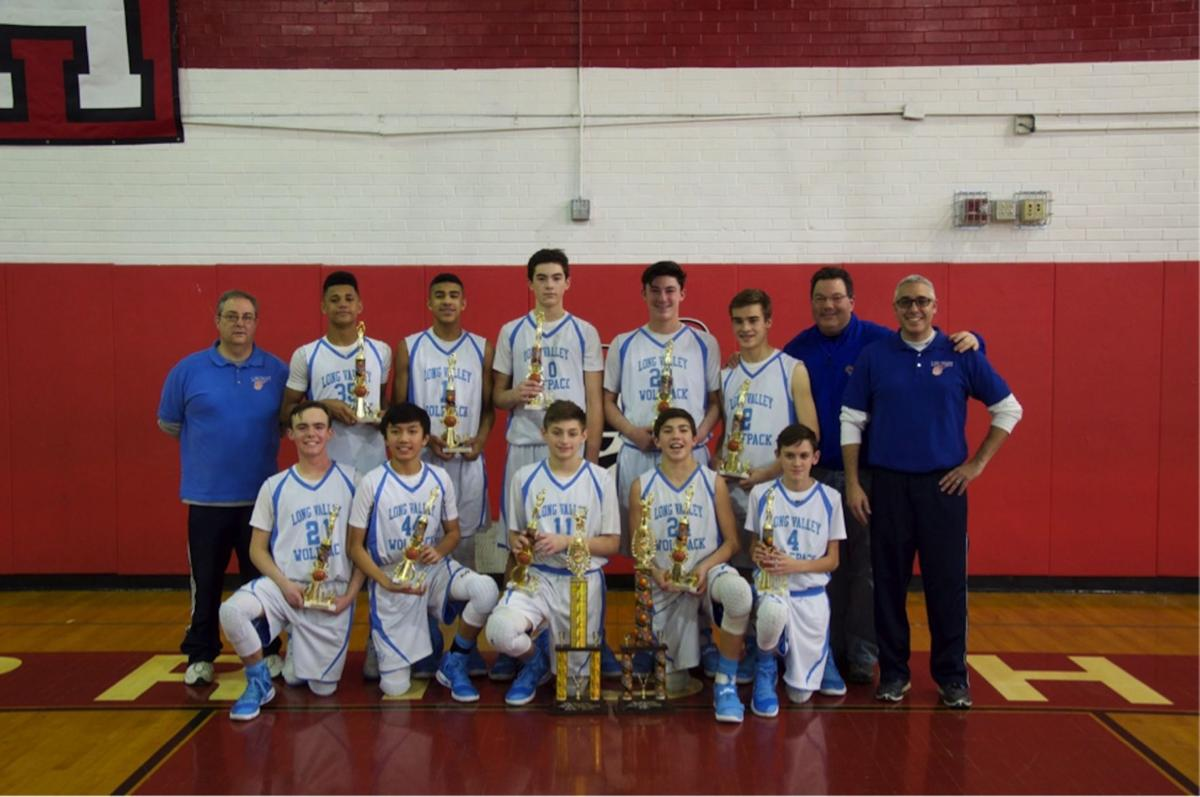 Long Valley travel 8th grade boys basketball team