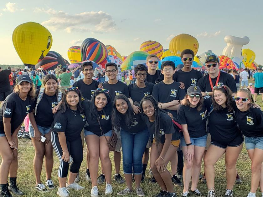 Mount Olive Robotics Team busy at carnival, balloon festival