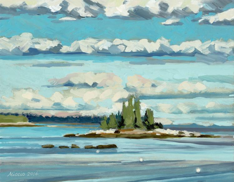 Clouds, Spruce Head Maine by Marge Miccio