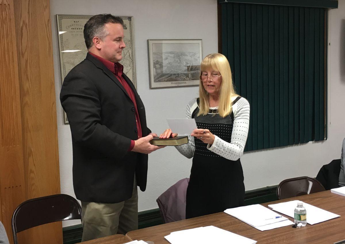 Hughes, Strange sworn in for new terms on High Bridge Borough Council