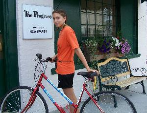 Local activist pedals for peace
