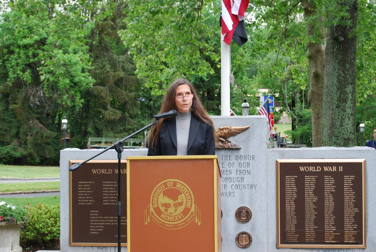 Wendy Robinson addresses Memorial Day crowd