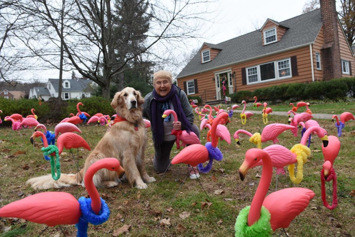 Flocked: Watchung woman gets 80th birthday surprise