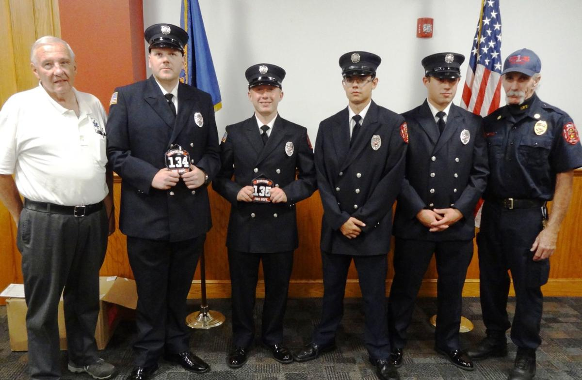 Two Stirling firefighters graduate from academy, three become certified EMTs