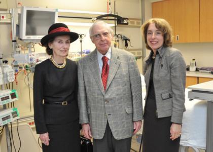 Hospital intensive care unit named for philanthropist
