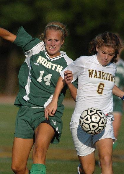 Corboz nets four goals to lead girls soccer squad to 8-0 win