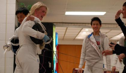 On to the state finals in fencing