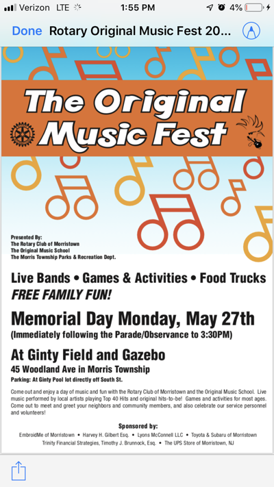 Original Music Fest flier