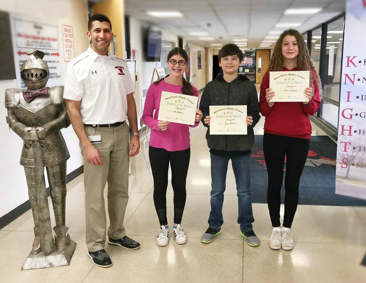 Seventh grade February Students of the Month 2018