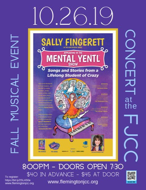Jewish Community Center hosting folksinger Sally Fingerett on Saturday, Oct. 26