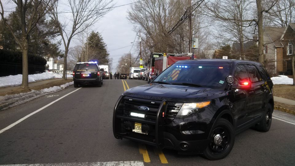 Police activity on Woodland Road