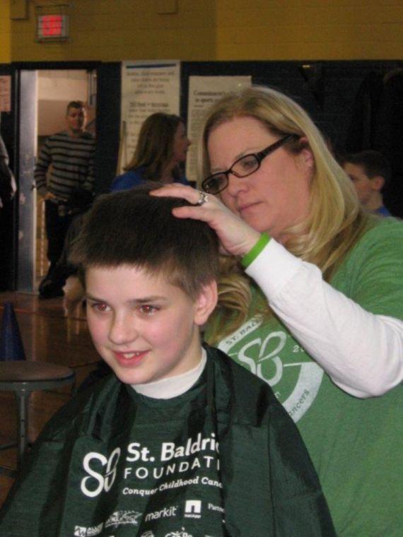 Shaving for St. Baldrick's
