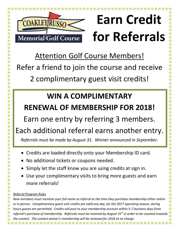 Membership Referral Program