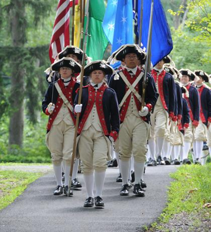 Fife and Drum Corps visits Morristown