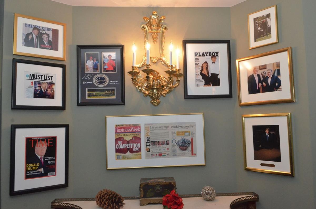 Trump security costs feared in bedminster bernardsville news this wall inside trump national golf club the bedminster country club owned by president donald trump is covered by framed pictures and various magazine jeuxipadfo Choice Image