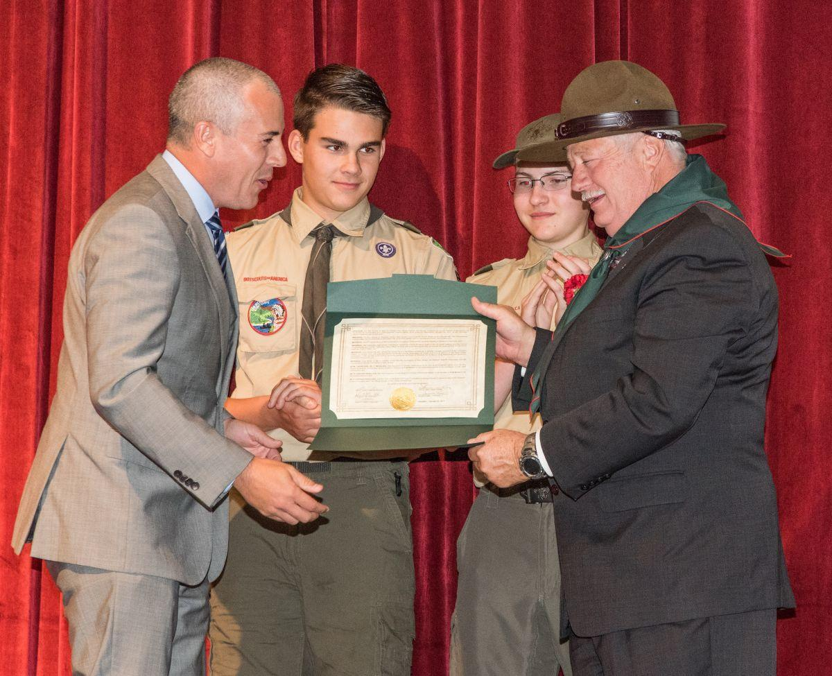 Boy Scouts honor Sheriff as 2017 Hunterdon County Distinguished Citizen
