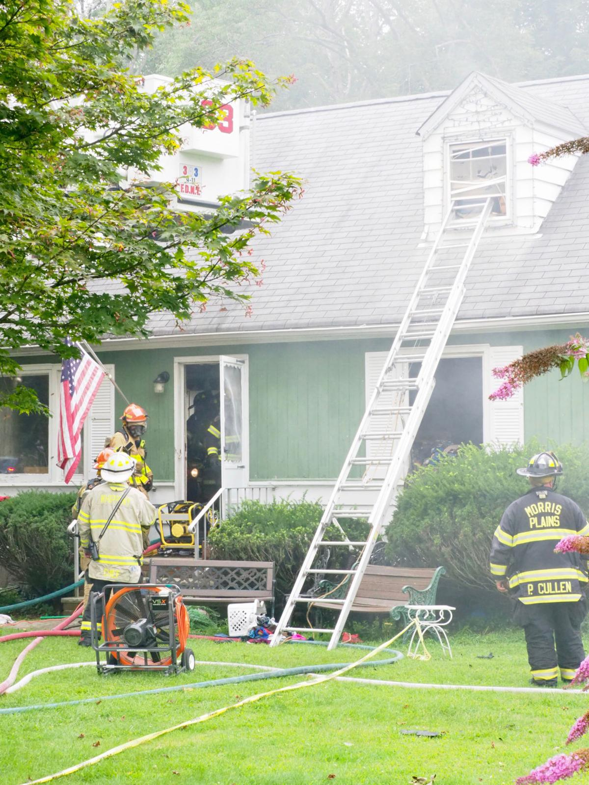 Fire damages morris plains home morris newsbee news for Morris home