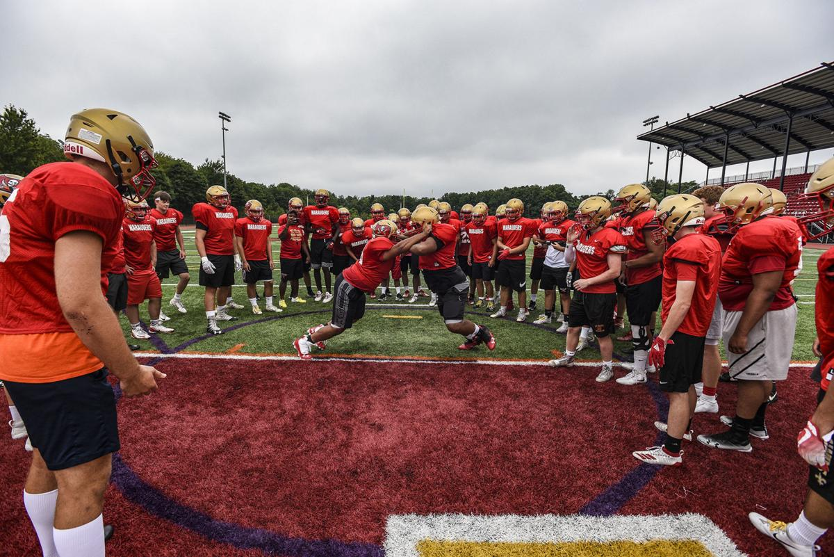 Mount Olive football practice