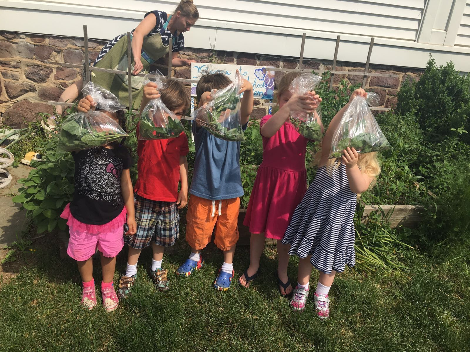 Students At The Cottage School In Gladstone Show Off Their Harvests From  The Schoolu0027s On Site Garden. The Garden Club Of Somerset Hills Awarded The  School A ...