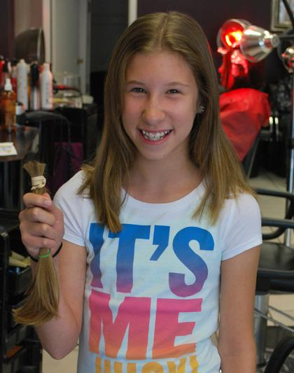 Roseland girl donates hair to make wigs for cancer patients