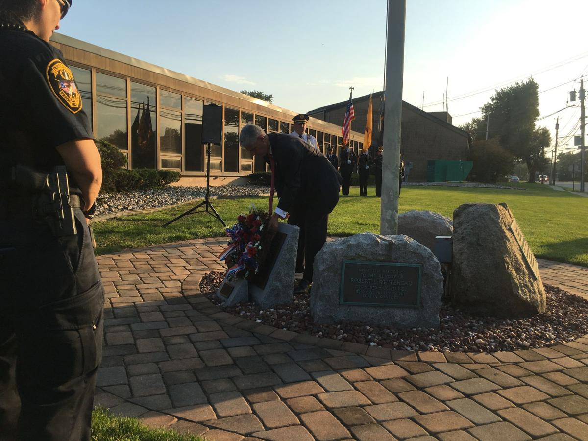 Laying a wreath