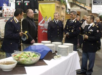 Italian police welcomed at Calandra's Italian Village in Caldwell