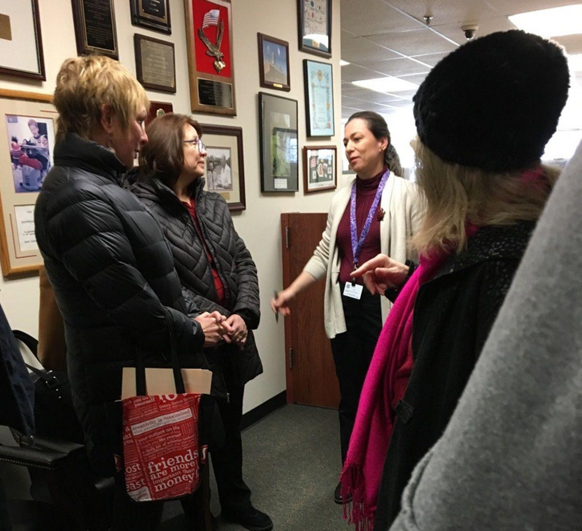 Indivisible Group at Frelinghuysen's Morristown Office