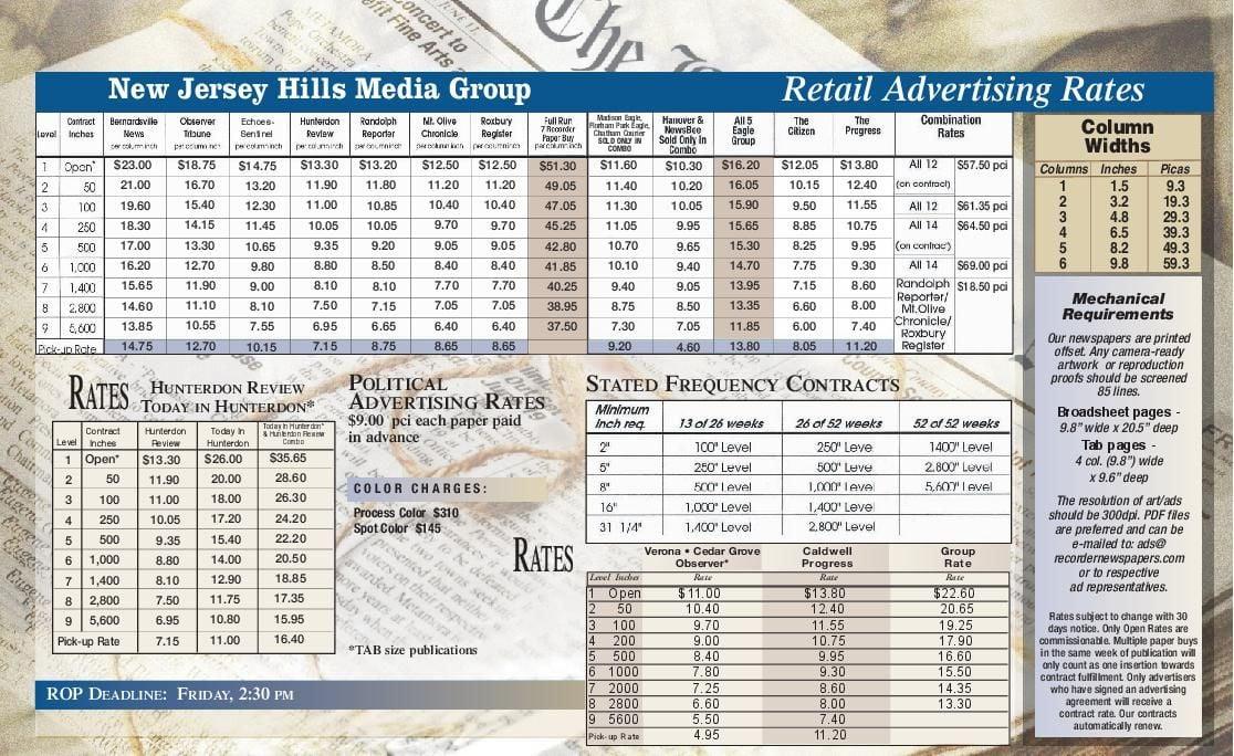 Advertising Rates