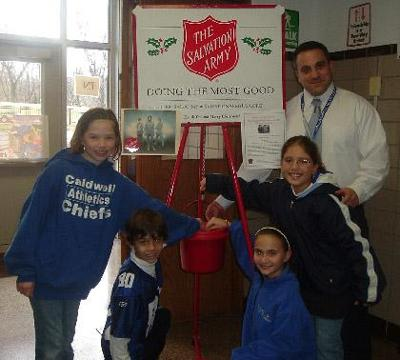 STUDENTS DONATE TO SALVATION ARMY