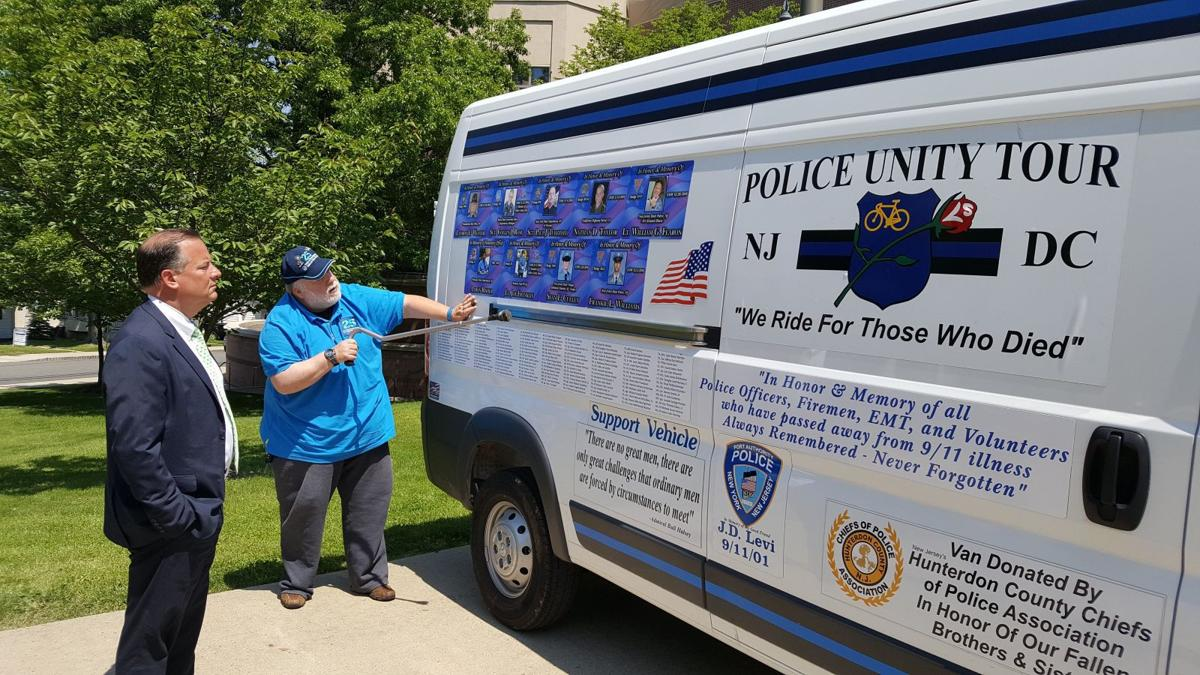 Hunterdon County law enforcement participate in 2017 police unity tour