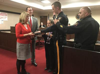 Long Hill swears in new police officer