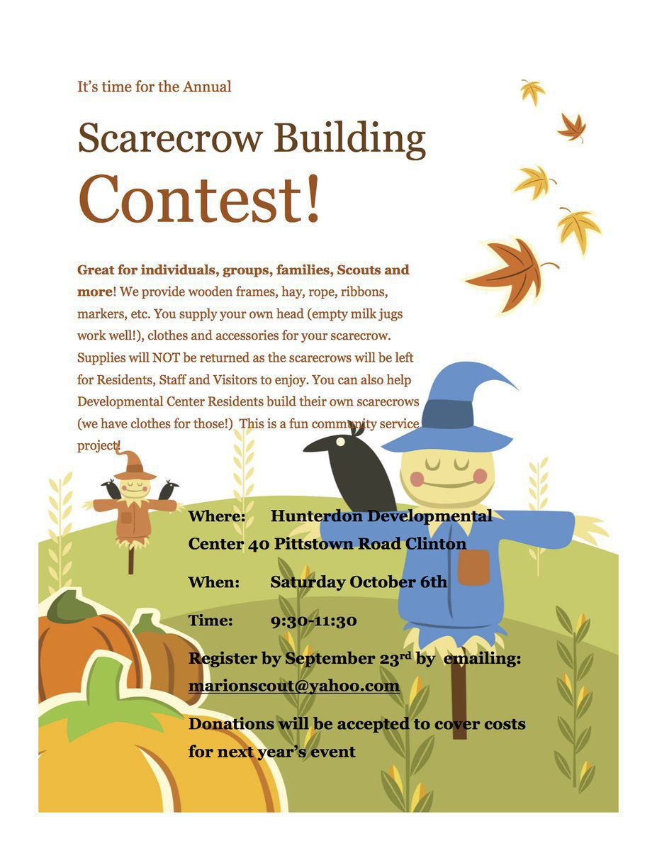 Clinton Scarecrow building contest to be held on Saturday, Oct. 6