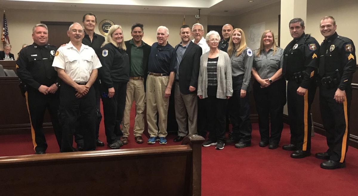 Long Hill first responders, good samaritans honored for saving man's life