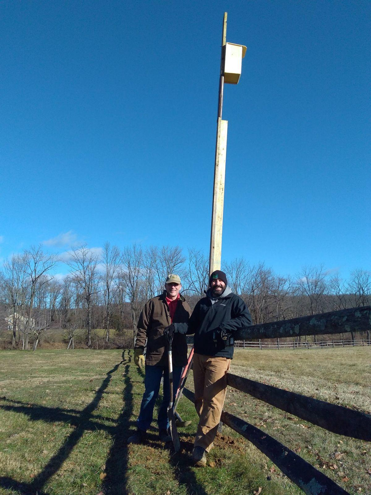 Raritan Headwaters install nest boxes for threatened American kestrels