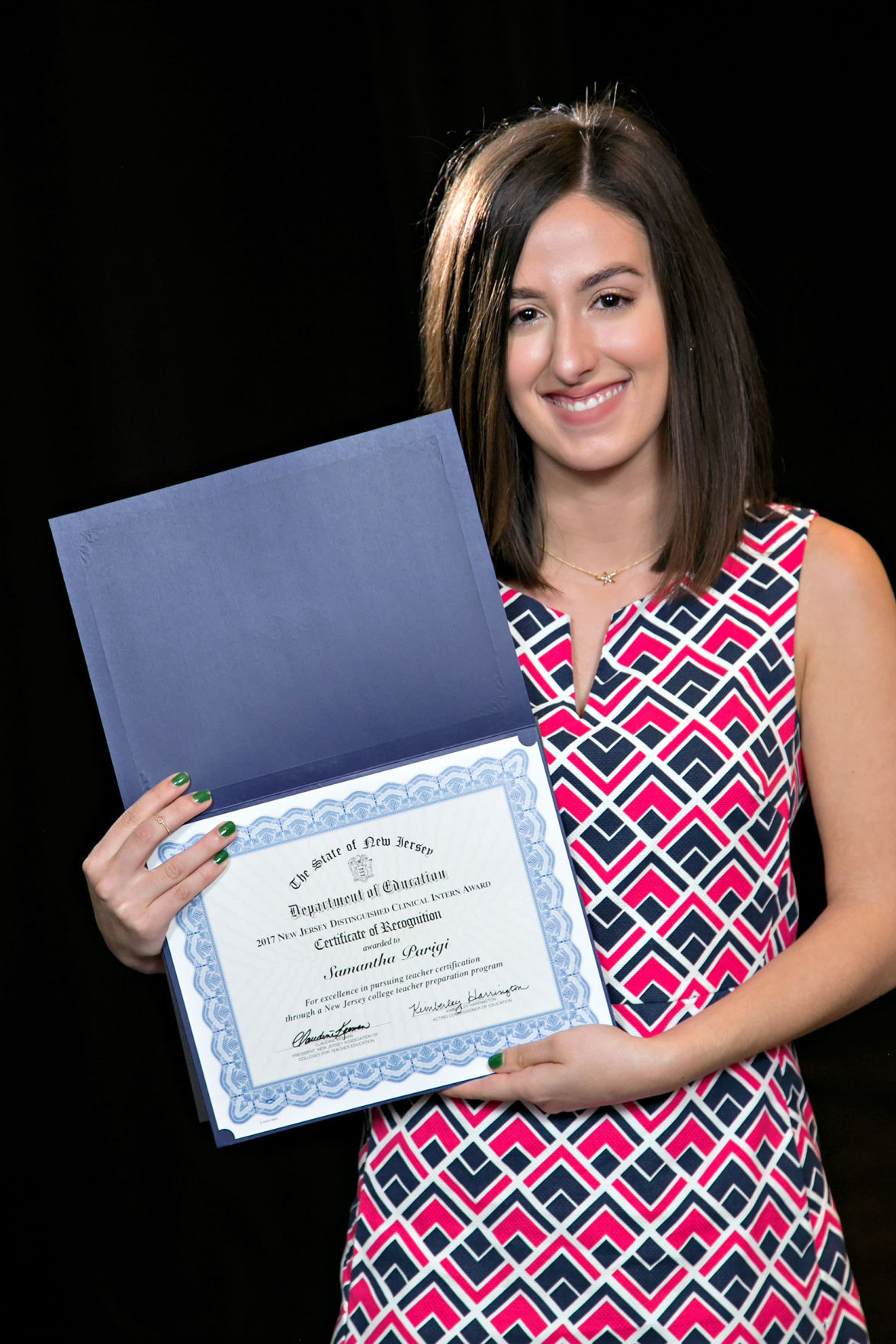 Caldwell university graduate earns teaching prize the progress 2017 new jersey distinguished clinical intern award xflitez Images